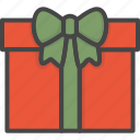 christmas, colored, gift, holidays, present, xmas icon