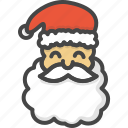 christmas, colored, head, holidays, santa, xmas icon