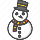christmas, colored, holidays, snowman, xmas icon