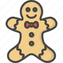 christmas, colored, ginger, gingerbread, holidays, men, xmas icon