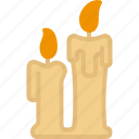candle, christmas, holidays, xmas icon