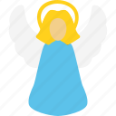 angel, christmas, holidays, xmas icon