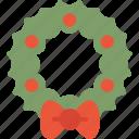 christmas, holidays, wreath, xmas icon
