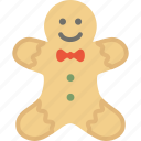 bread, christmas, ginger, holidays, men, xmas icon