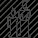 candle, christmas, holidays, line, outline, xmas icon