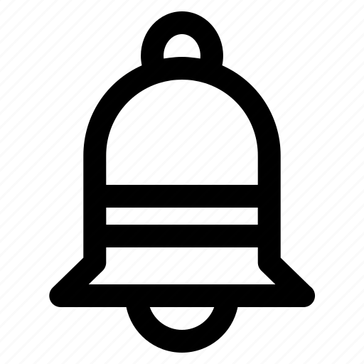 alarm, bell, christmas, decoration, outline, xmas icon