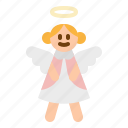angel, christmas, cute, doll, pray icon