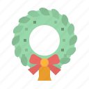bell, bow, christmas, decoration, wreath icon
