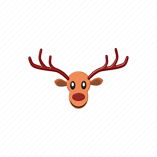 christmas, deer, raindeer, season, xmas icon