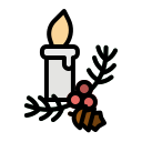 candle, christmas, decoration, illumination, light icon