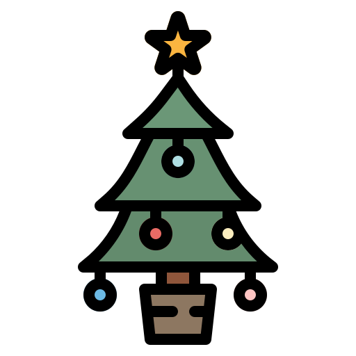 christmas, pine, tree, wood, xmas icon