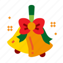 bells, christmas, jingle, ribbon icon
