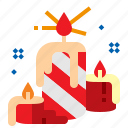 candle, christmas, flame, xmas icon