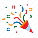 celebration, christmas, confetti, party icon
