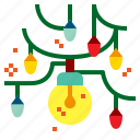 bulb, christmas, decoration, lights icon
