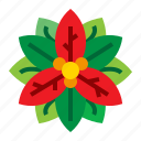 christmas, flora, flower, poinsettia icon