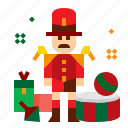 christmas, drum, soldier, toy icon