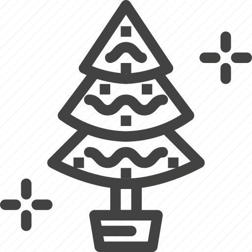 christmas, decoration, eve, party, tree icon