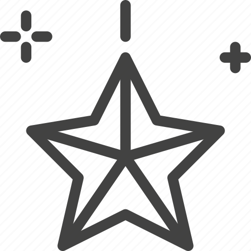 christmas, decoration, party, star icon