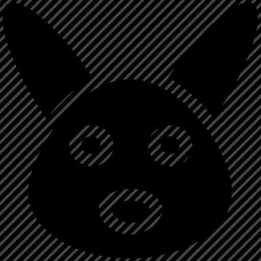 animal, bunny face, christmas, hare, rabbit face icon