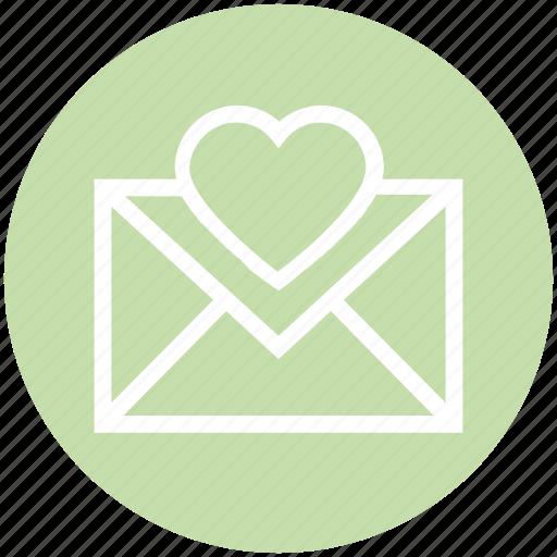 Christmas, envelope, heart, invitation, letter icon - Download on Iconfinder