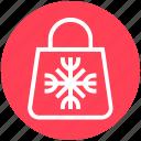 christmas, christmas bag, gift, hand bag, santa icon