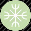christmas, decoration, snow, snowflake, winter icon