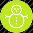 christmas, snow, snowman, snowperson, winter icon