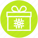 christmas, christmas gift, gift, gift pack, snowflake icon
