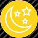christmas, decoration, moon, night party, stars