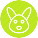 animal, bunny face, christmas, hare, rabbit face icon