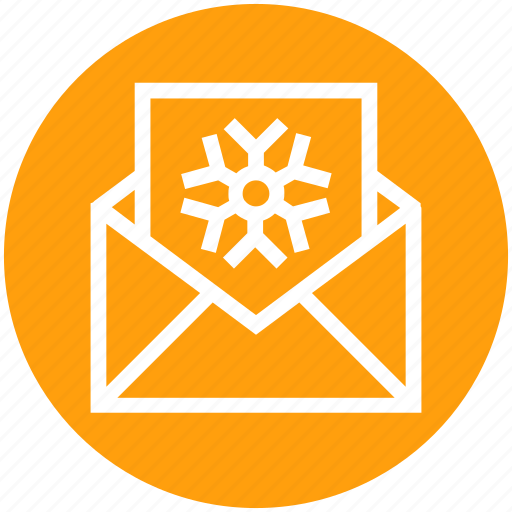 Card, christmas, envelope, letter, snowflake icon - Download on Iconfinder