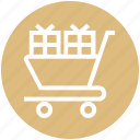 cart, christmas, gifts, gifts boxes, present