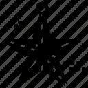 christmas decoration, christmas ornament, christmas star, tree star, tree topper icon
