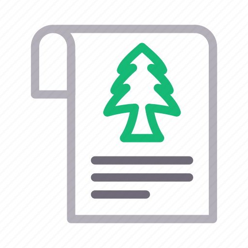 Christmas, document, fir, sheet, tree icon - Download on Iconfinder