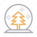 christmas, decoration, fir, snowball, tree icon
