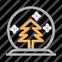 christmas, decoration, fir, snowball, tree