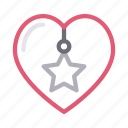 christmas, decoration, heart, party, star