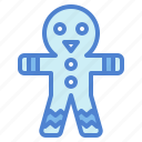 bakery, cookie, food, gingerbread, man icon