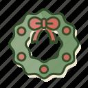 christmas, decoration, wreath, xmas