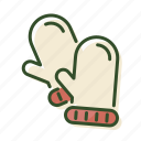 christmas, cold, gloves, snow, winter icon
