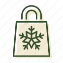 christmas, sale, shopping bag, winter shopping icon