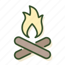 burning, christmas, fire, fireplace, winter icon