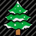christmas, christmas tree, snow, tree, winter
