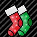 adornment, christmas, clothing, decoration, fashion, socks, xmas