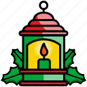 candle, christmas, fire, flame, lamp, lantern icon