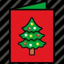 christmas, christmas card, christmas day, greeting card, invitation card icon