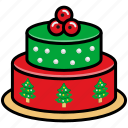 cake, celebration, christmas, christmas cake, new year, party