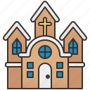 building, chapel, christian, church, religion icon