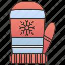 gloves, hand, mitten, warm, winter